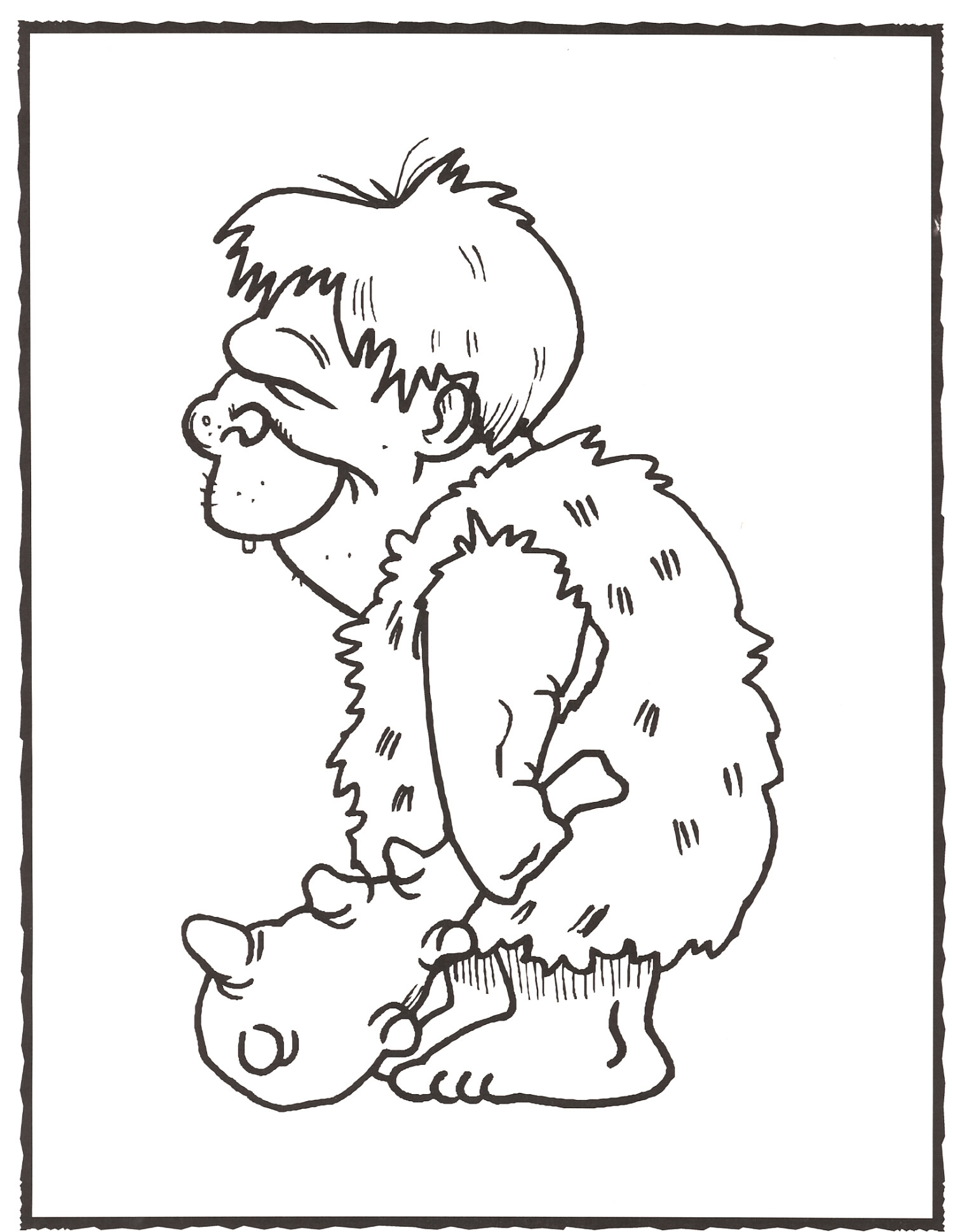 caveman coloring pages - photo#5